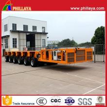 Remorque modulaire automotrice hydraulique de 6 modules 150 tonnes