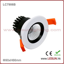 Cut Hole 75mm 6W COB Downlight empotrable de techo LC7906b