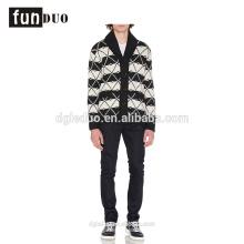 Mens elegante casaco de tricô padrão camisola
