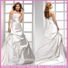 WD1195 frete grátis feito na China contas diamantes padrões topo vestido de vestido de cetim com esferas corset 2015 novos vestidos de casamento de design
