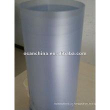 Cor azul matizada geada grosseira do matiz do rolo do PVC para o empacotamento do colar do vestuário