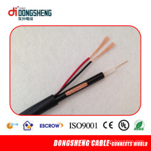 Rg59 2c Coaxial Cable Rg59 + 2 Core Power for Video Camera CCTV CATV System CE RoHS ISO9001 Approved