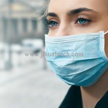 A máscara cirúrgica investe contra aparelhos de respiração