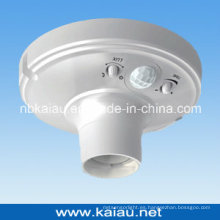 Alta calidad E27 PIR Sensor Soporte Lámpara Soporte