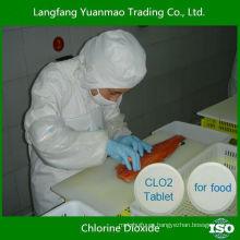 Mejor desinfectante tableta de dióxido de cloro para la línea de procesamiento de alimentos
