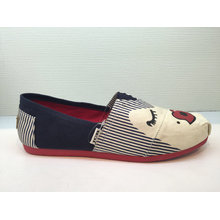 Zapatos ocasionales de la historieta de la impresión del modelo para los muchachos y las muchachas