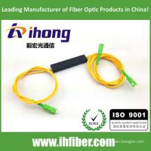 FBT 1 * 2 ABS Empaquetado Fusible de acoplador de fibra óptica conector SC / APC Conectores