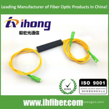 FBT 1*2 ABS Package Fused coupler fiber optic splitter SC/APC Connectors