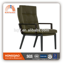 CV-B201AS luxury leather powder coating visitor chair high end furniture