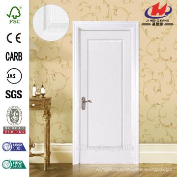 JHK-001 Хорошая индивидуальная сертификация FSC Сертификат Whiter Primer Flush Твердая деревянная дверь