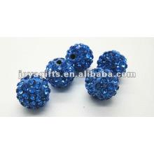 Boule de cristal d'argile shamballa de 10 mm, boules de shamballa