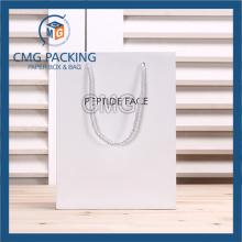 Matt White Promotion Paper Bag for Gift (CMG-MAY-036)