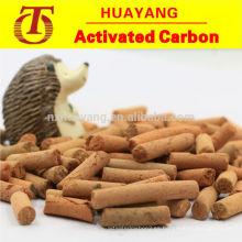Carbón activado de pellets amarillos para endulzar / desulfurar
