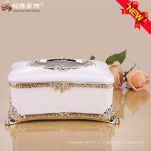 европейский стиль роскошный дизайн ткани бумажная коробка для домашнего украшения