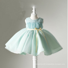 Green Organza Flower Girl Dress Gowns