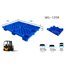 Warehouse Heavy Duty Sigle Face Plastic Pallet 1200*800*140