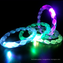 light up led flashing bracelet with white thread