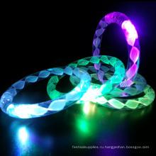 свет вверх LED мигающий браслет с белыми нитками