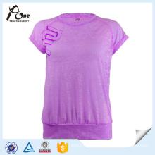 Burn out Fabric Women Green Leisure Sportswear