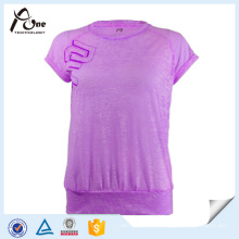 Burn out Fabric Women Green Leisure Sportswear