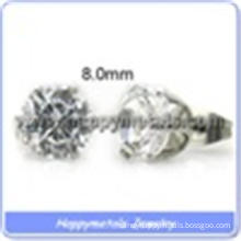fashion diamond white stone stud earrings