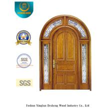 Sicherheits-Doppeltür mit Glas und Eisen (B-9011)