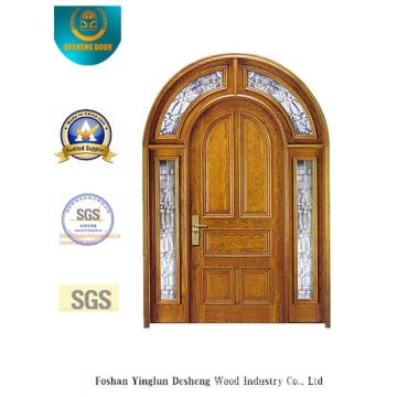 Security Double Door with Glass and Iron (B-9011)