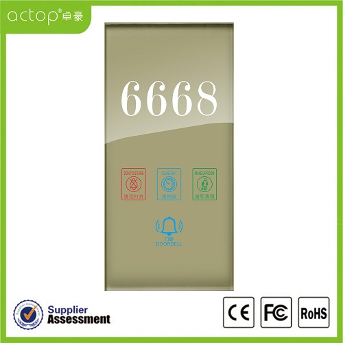 Tempered Glass Panel Doorplate