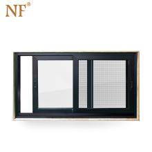 aluminum windows 70-series standard glass sliding reception  window sizes