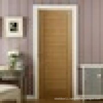 Oak veneer laminated finish wood door