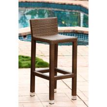 Jardín de mimbre al aire libre muebles Patio rota Bar taburete silla