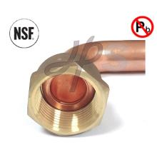 Raccord de coude en laiton à faible plomb approuvé par NSF