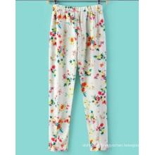 Pantalons OEM Autumn Fashion Elestic Waist Printed Women's Pantalons