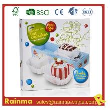Juguete de felpa Cupcake DIY para niños