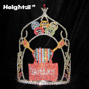 Coroas de cristal personalizadas Sweety Candy Pageant