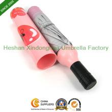 Dreifache benutzerdefinierte gedruckten Flasche Regenschirm für Werbegeschenke (BOT-3821Z)