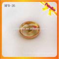 MFB26 Botón de encargo del metal de la aleación del cinc del color del oro del botón los 2.3cm de la caña del metal de la manera con electrochapado