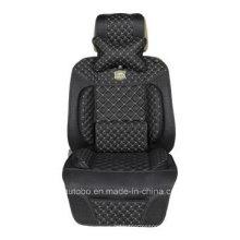 Leatherette Car Seat Cover Flat Shape Cushion/Shoulder Pad