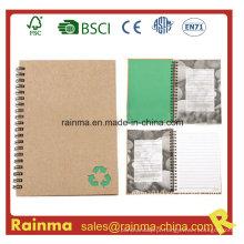 Notebook espiral com papel impermeável a pedra