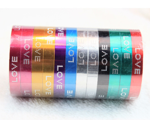 LOVE Words Aluminium Metal Bangles
