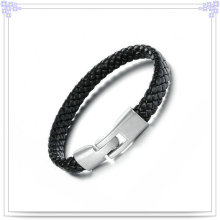 Fashion Gifts Stainless Steel Jewelry Leather Bracelet (LB111)