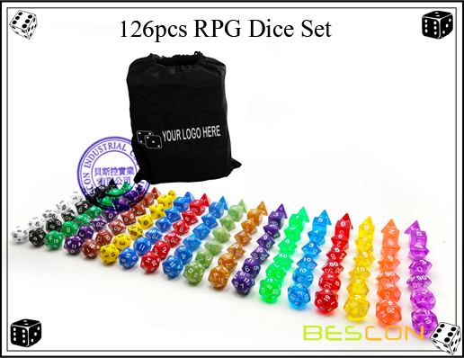126pcs RPG Dice Set
