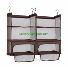 Estantes de la compresión del equipaje, estantes colgantes portátiles con la cremallera