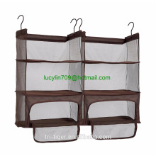 Luggage Compression Shelves, Portable Hanging Shelves with Zippered