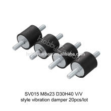High Quality M8*23 D30H40 custom shock absorber anti vibration rubber damper