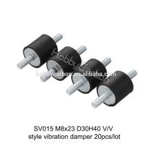 Alta qualidade M8 * 23 D30H40 personalizado amortecedor anti vibração amortecedor de borracha