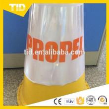 Manchon de PVC pour cône de signalisation d'avertissement en plastique