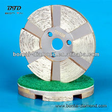 Metal bond polishing discs for concrete, granite, marble