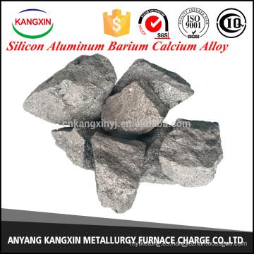 aleación de calcio de aluminio y bario de silicio como desoxidante en la fabricación de acero