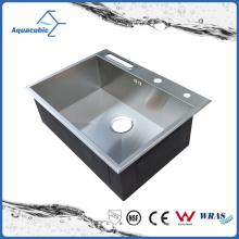 Clásico de un solo tazón de acero inoxidable de lujo hechos a mano fregadero (ACS6850S)